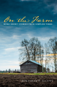 On the Farm book cover - image of farmhouse, trees, and sky